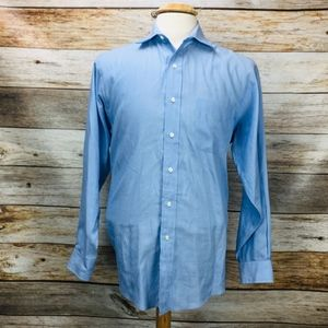 Brooks Brothers Men's Dress Shirt Solid Blue